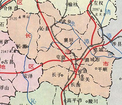 长治县 高平地图