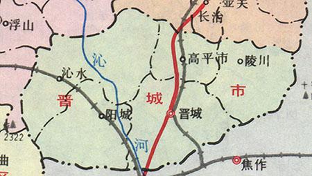 山西政区:晋城市