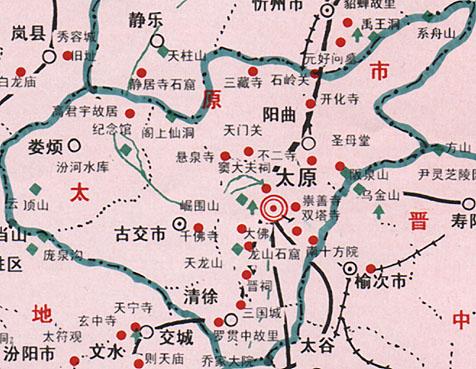 太原旅游地图